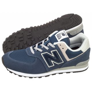 low priced cc9dd 15777 New Balance Grade School 574 Shoe Core Navy with Grey