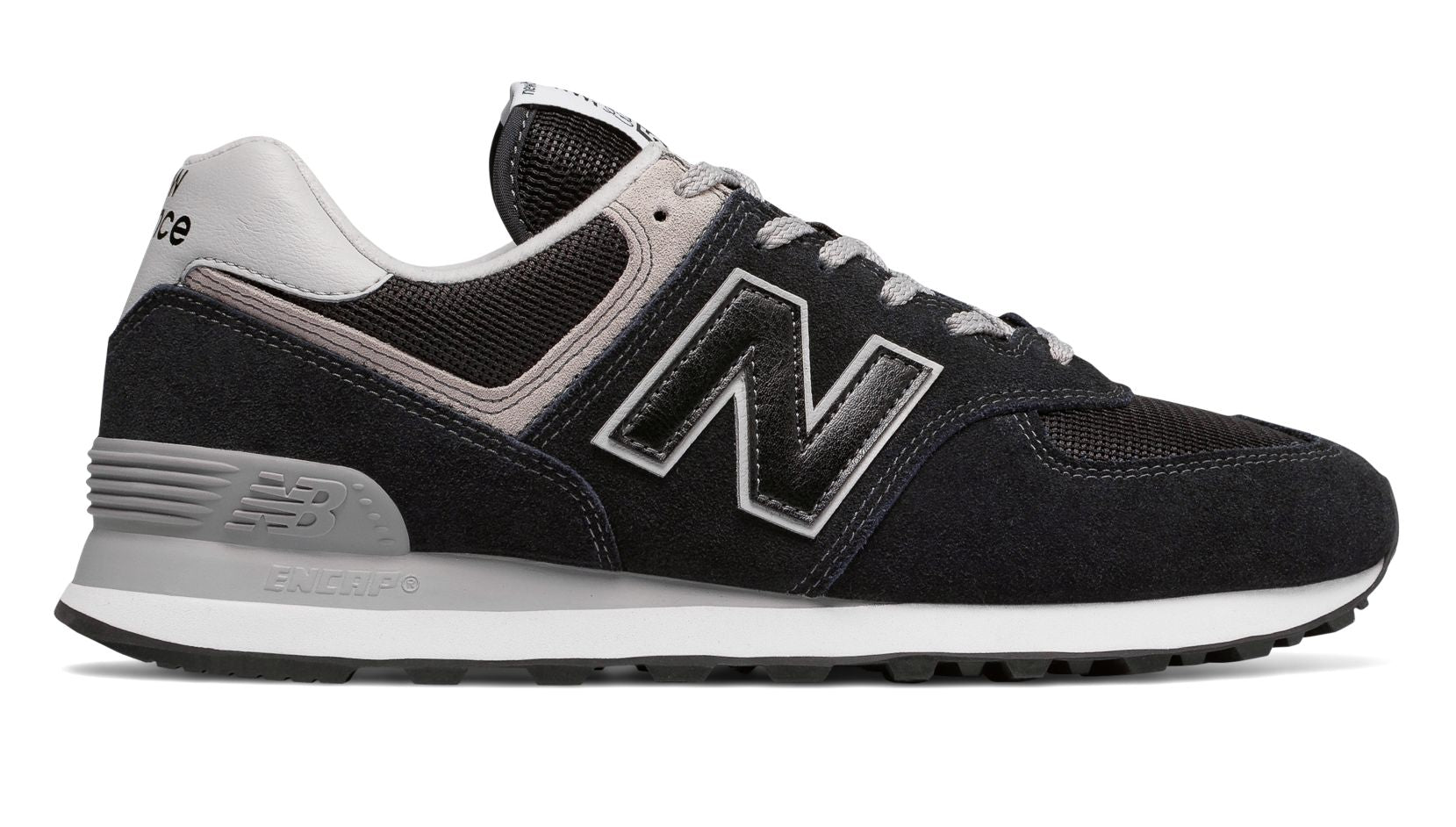 New Balance Men's Shoe Black 574 Classic