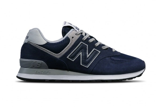new product 81d29 3e445 New Balance Men's Shoe 574 Navy/Grey