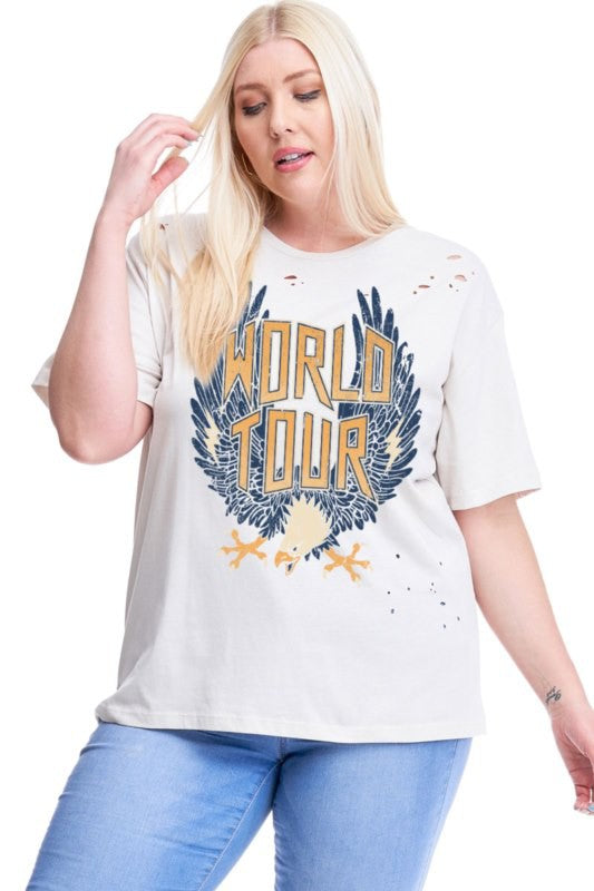 World Tour Eagles Distressed Tee *Final Sale*