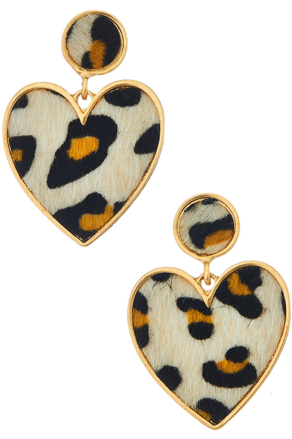 Leo Heart Drop Earrings