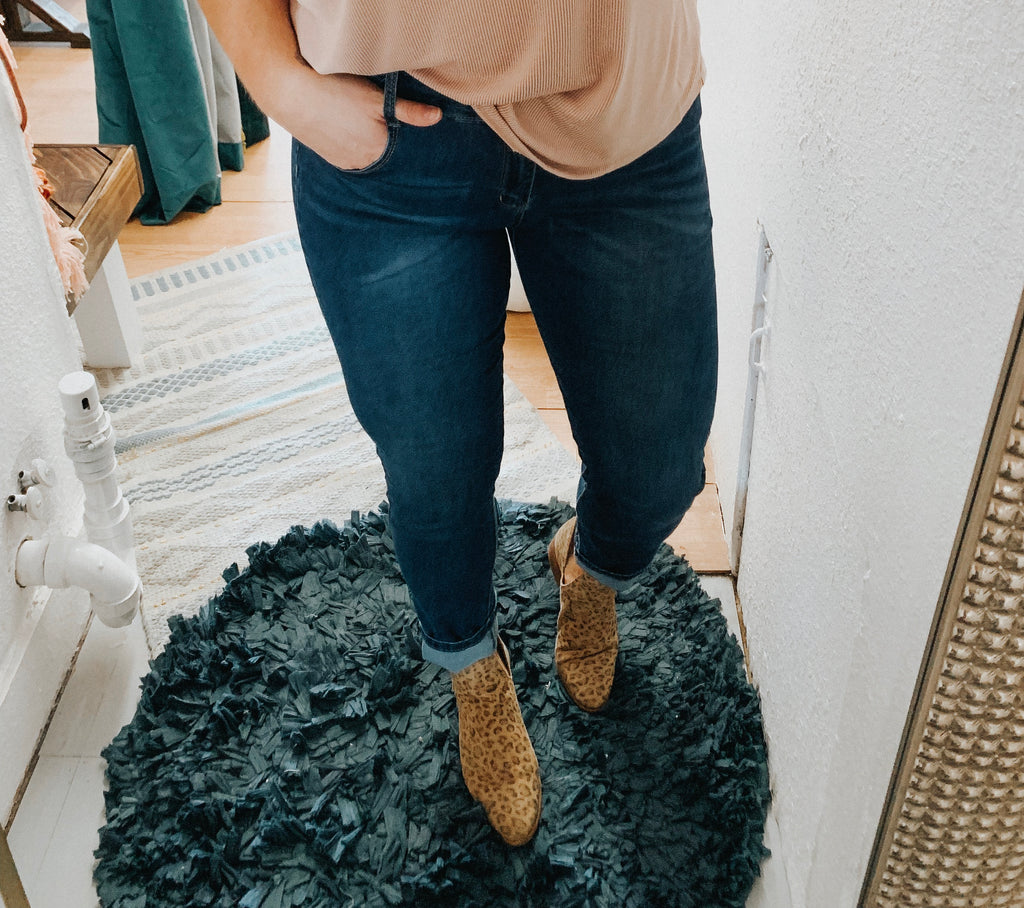 Crystal Dark Denim Jeans