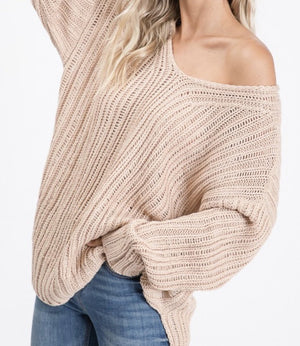 Juli V-Neck Cable Knit Sweater