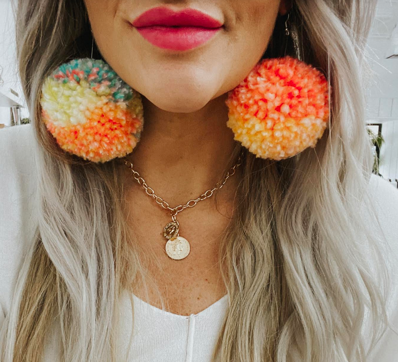Mix Matchy Pom Earrings