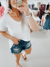 Favorite Basic V-Neck Top White