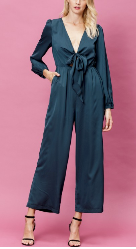 Quinn Satin Jumpsuit