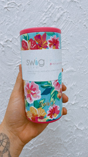 12oz Skinny Can Cooler - Island Bloom