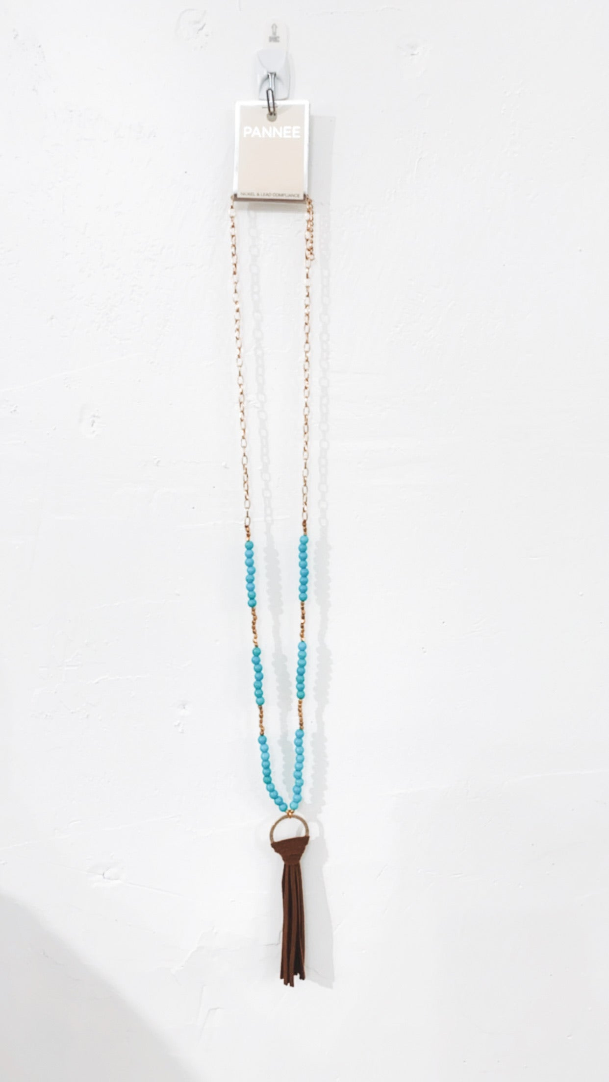 Suede Tassel Drop Necklace