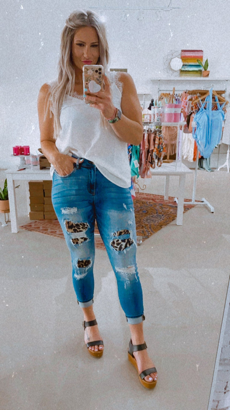 Luie Leo Patch Jeans