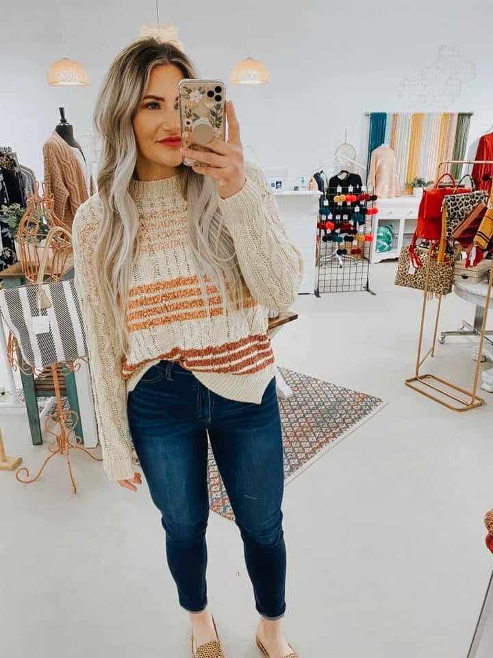 Randi Cable Knit Sweater