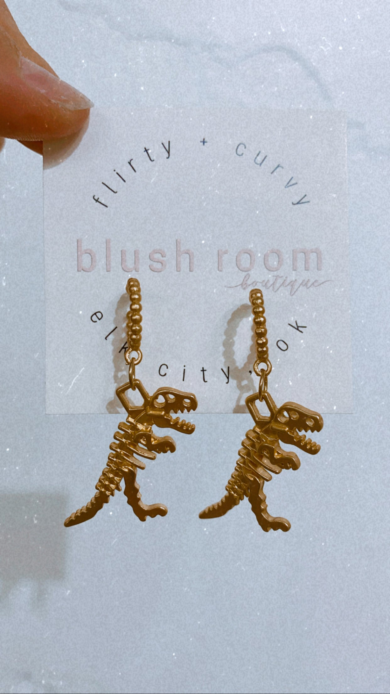 Dino Skeleton Earrings