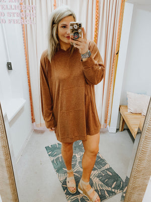 Janea Brick Thermal Dress