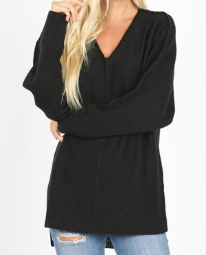 Jessie Ribbed Hem Sweater
