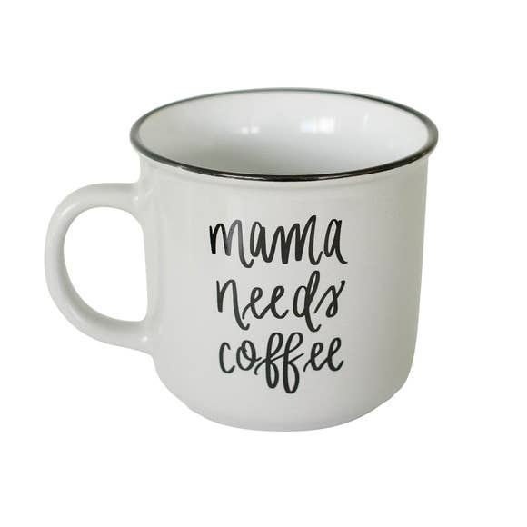 Mama Needs Coffee Campfire Coffee Mug