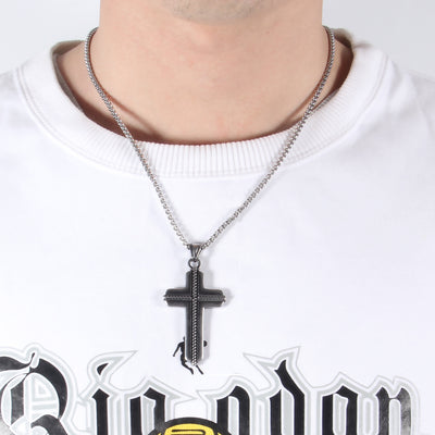 Stainless Rope Cross Necklace