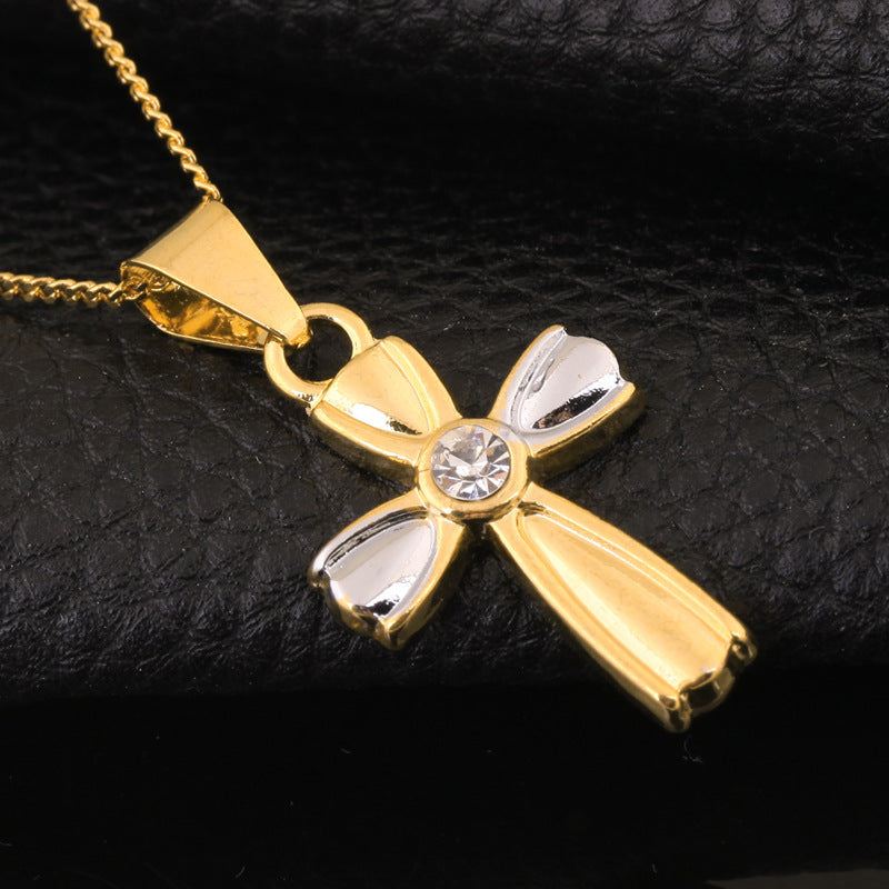 Gold Ribbon Cross