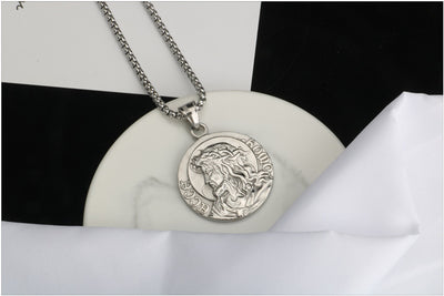 Pewter Coin Necklace 3 Pack