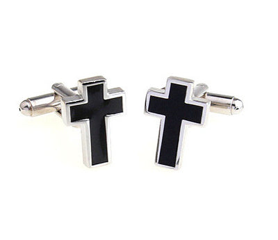 Stainless Cross Cuff Links