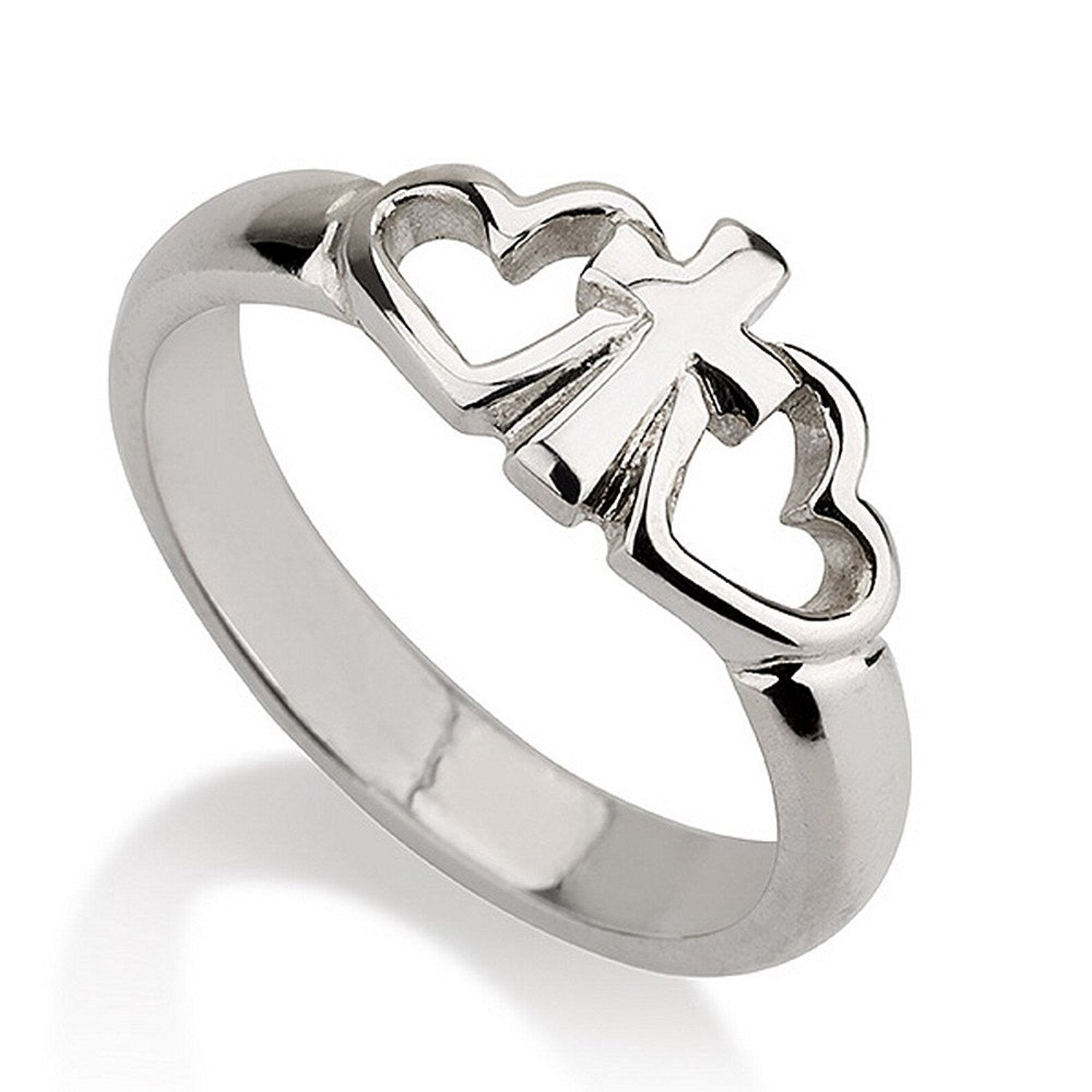 Heart Cross Promise Ring