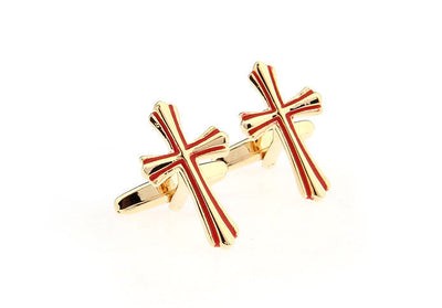 Two Tone Cross Cuff Links