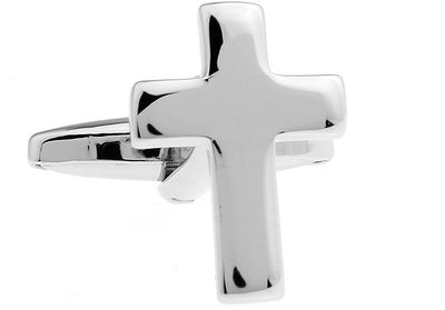 Stainless Cross Cufflinks