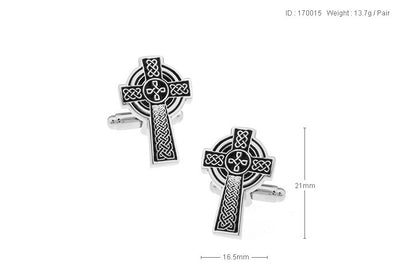 Celtic Cross Cuff Links