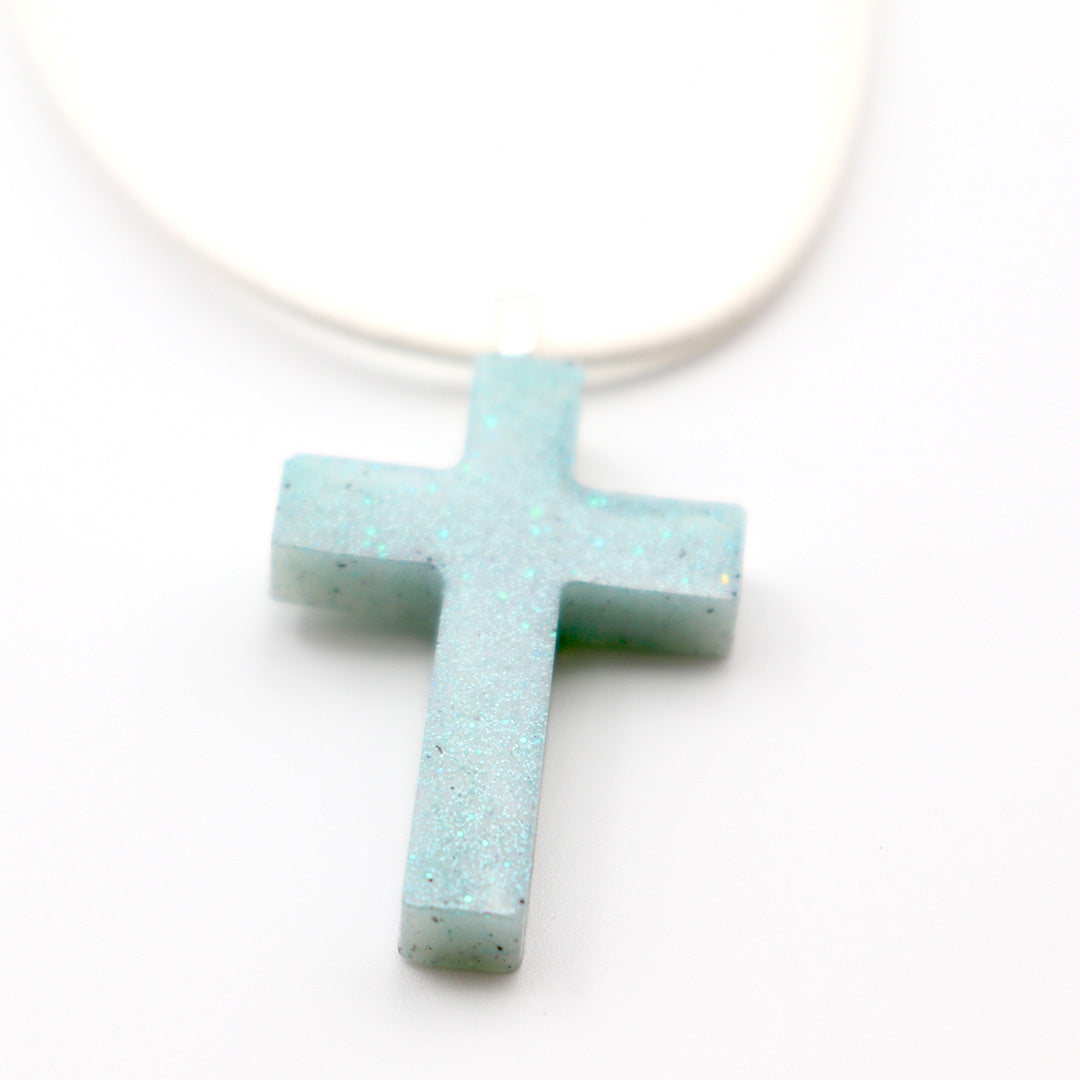 Crushed Turquoise Cross - Handmade