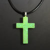 Lime Green Opal Cross - Glow In The Dark
