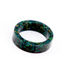 Black Opal Flat Band Ring
