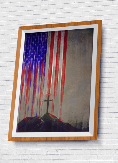 Patriotic Cross Poster