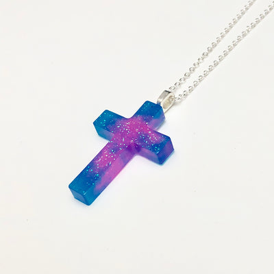 Bubblegum Tie Dye Cross