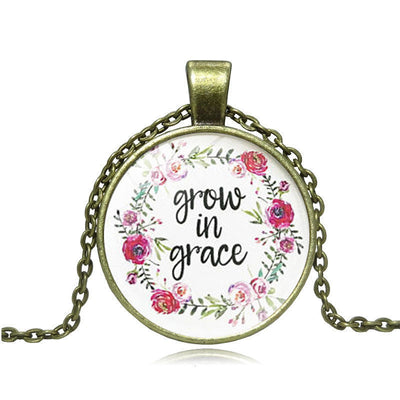 Grow In Grace Heart Pendant