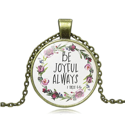 Be Joyful Always Pendant