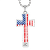 American Flag Cross Necklace JC
