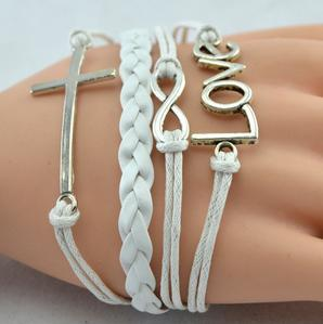 Jesus is Infinite Bracelet - White