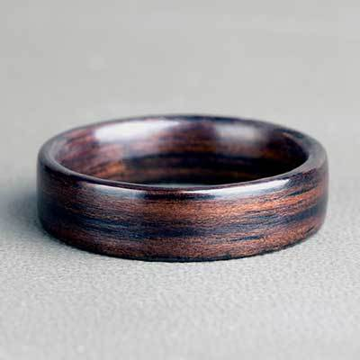 Natural Ebony Wood Ring