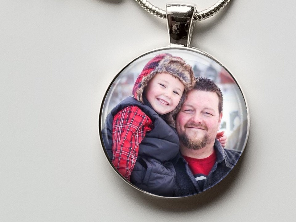Round Custom Photo Pendant