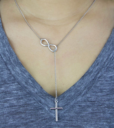 Jesus is Infinite Cross Necklace