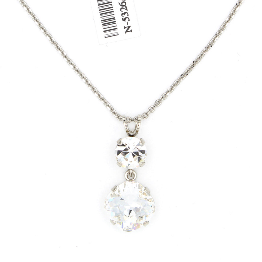 Clear Crystal 12MM Pendant Necklace