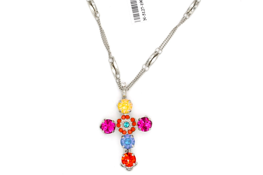 Poppy Double Chain Cross Necklace