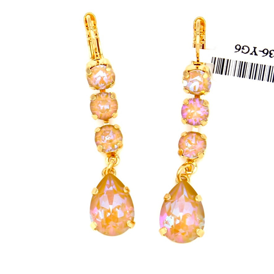 Horizon Sunkissed Crystal Dangle Earrings in Yellow Gold