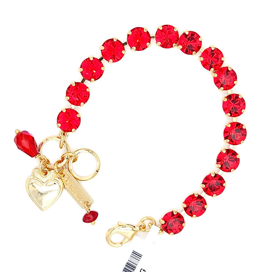 Light Siam Must Have Crystal Bracelet in Gold