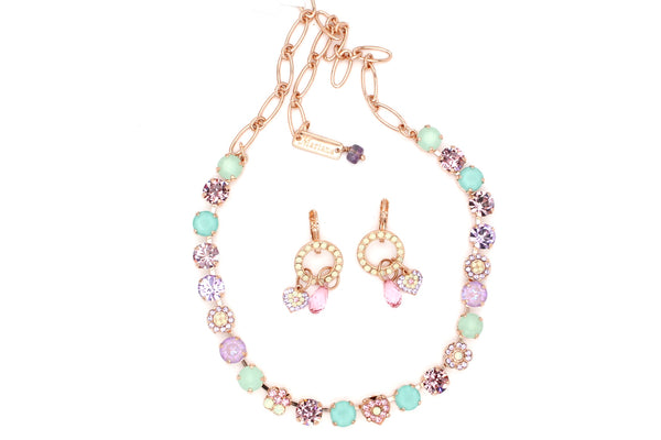 Lavender Collection 8.5MM Crystal Heart Necklace in Rose Gold