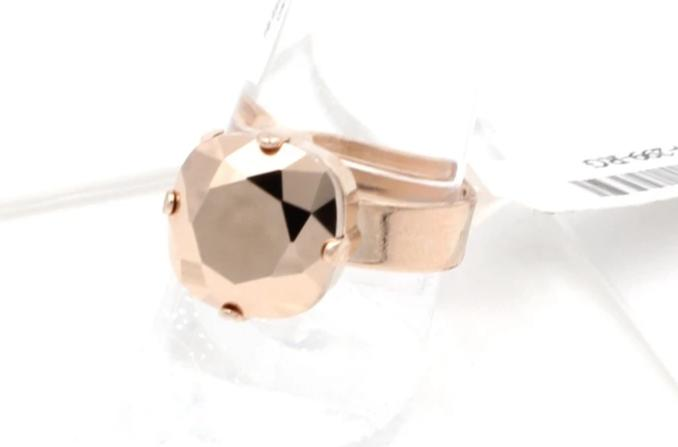 Rose Gold 12MM Square Crystal Ring
