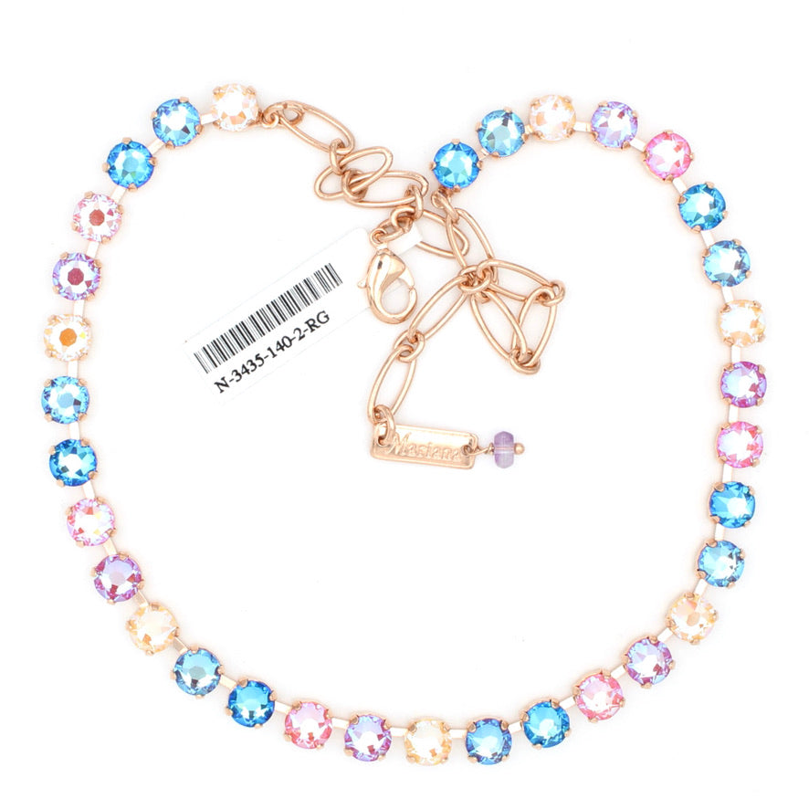 Lollipop Collection 7MM Must Have Crystal Necklace in Rose Gold