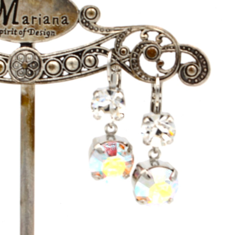 Clear and Crystal AB Lovable Dangle Earrings