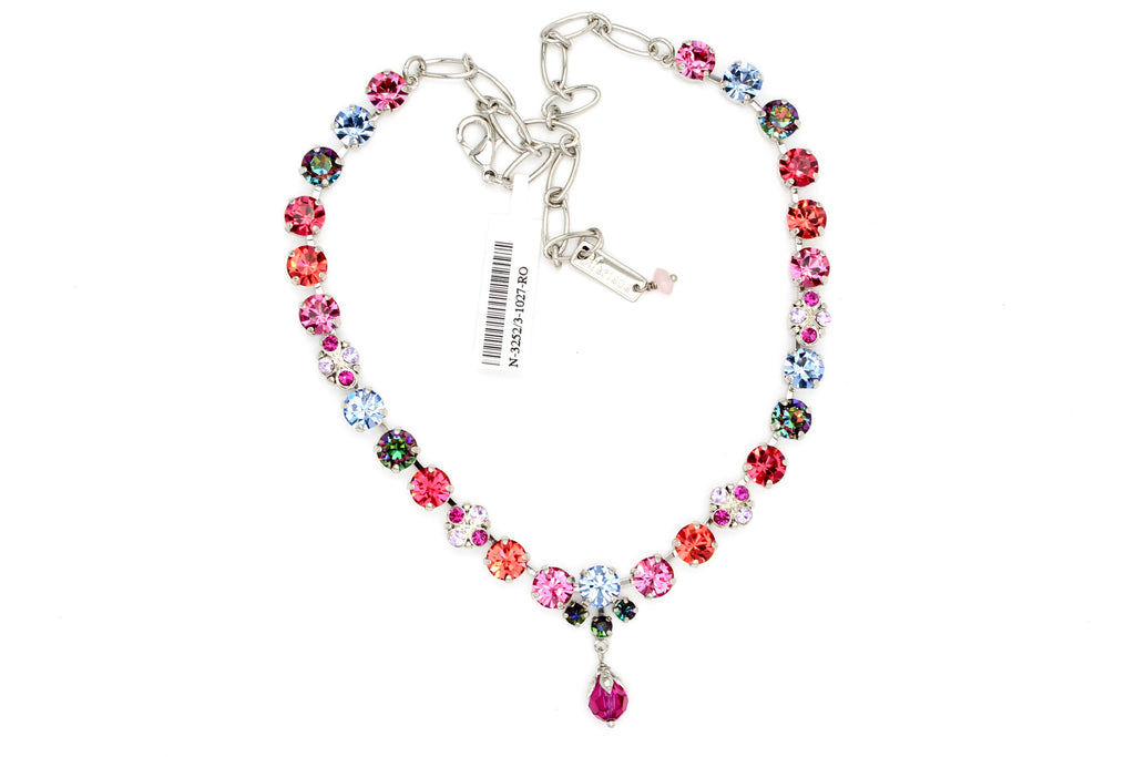 Joy Collection Medium Crystal Necklace With Dangle