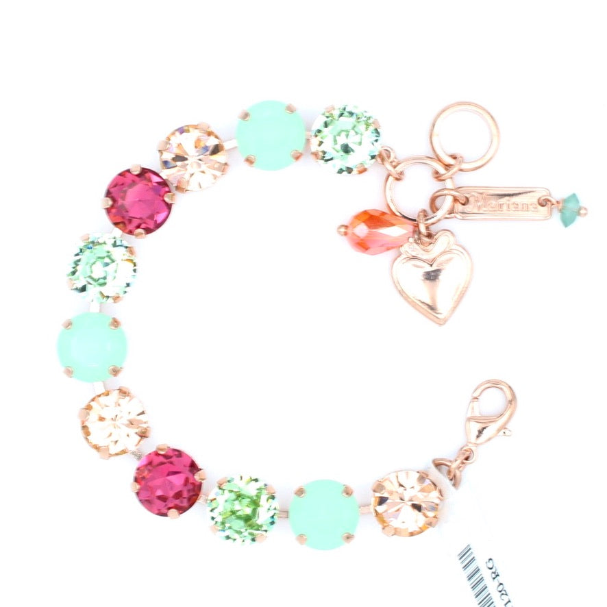 Peachy Keen Collection Lovable Crystal Bracelet in Rose Gold