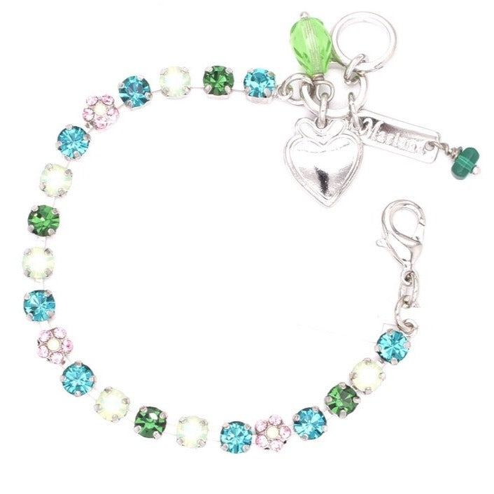 Ivy Collection Petite Crystal Flower Bracelet