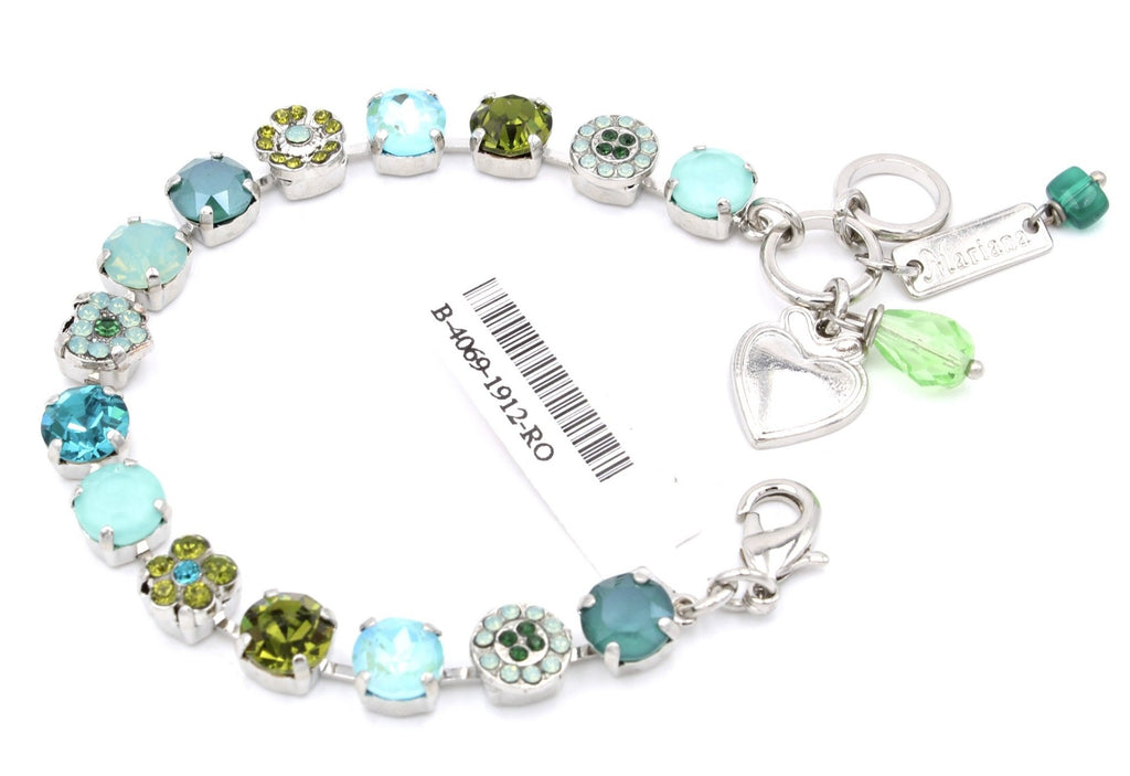 Ivy Collection Heart Crystal Bracelet